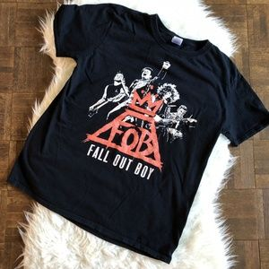 Fall Out Boy FOB Unisex Large Black Concert TShirt